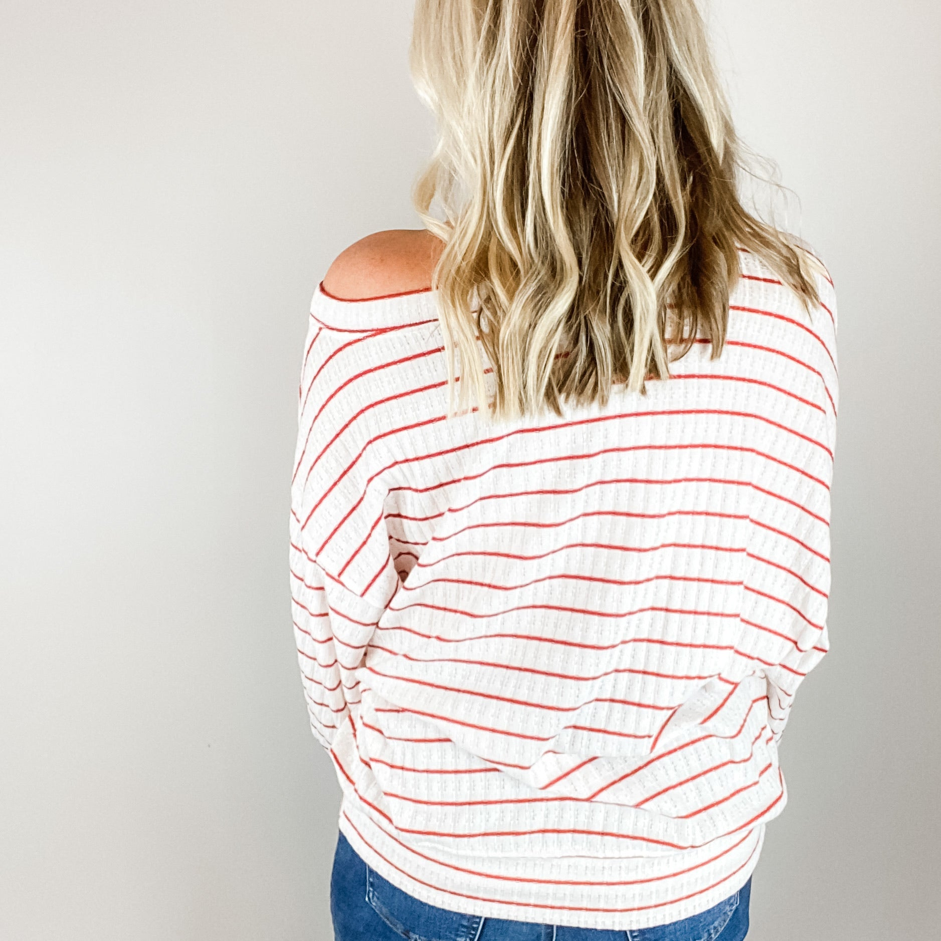 Bentlee Oversized Striped Sweater-Find your perfect casual tops by searching our collection of women's tops online today! Shop trendy tanks, blouses, tees, sweaters and more. New items added daily. Tops for women.-East Coast She, South Carolina