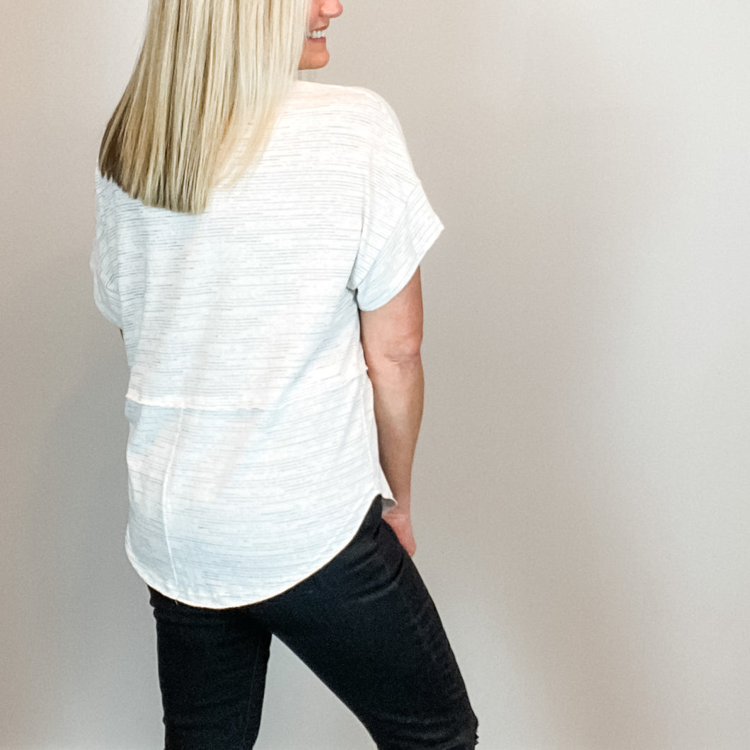 Katie Semi-Dolman Short Sleeve Top