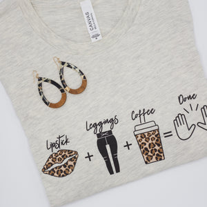Lipstick + Leggings + Coffee Tee (LAST ONE!)