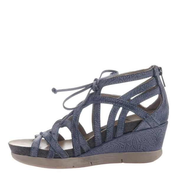 OTBT - NOMADIC in NAVY Wedge Sandals-East Coast She, South Carolina