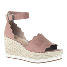 PHANTASTES in MAUVE Wedge Sandals-This shoe is dreamy. Get over it. Featuring femme scalloped edges and an espadrille wedge, it's basically the essence of summer - all in one, strangely named sandal in blushing mauve. Women's wedge sandal. Crafted with animal friendly vegan suede. Adjustable buckle strap. New Arrivals! Sandals by Madeline.-East Coast She, South Carolina