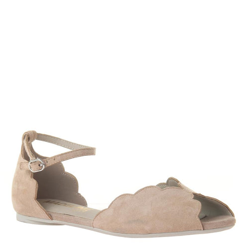 MADELINE GIRL - SALTY in CHAMPAGNE Flat Sandals-East Coast She, South Carolina