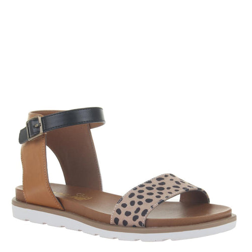 MADELINE GIRL - STARLING 2 in LEOPARD Flat Sandals-East Coast She, South Carolina