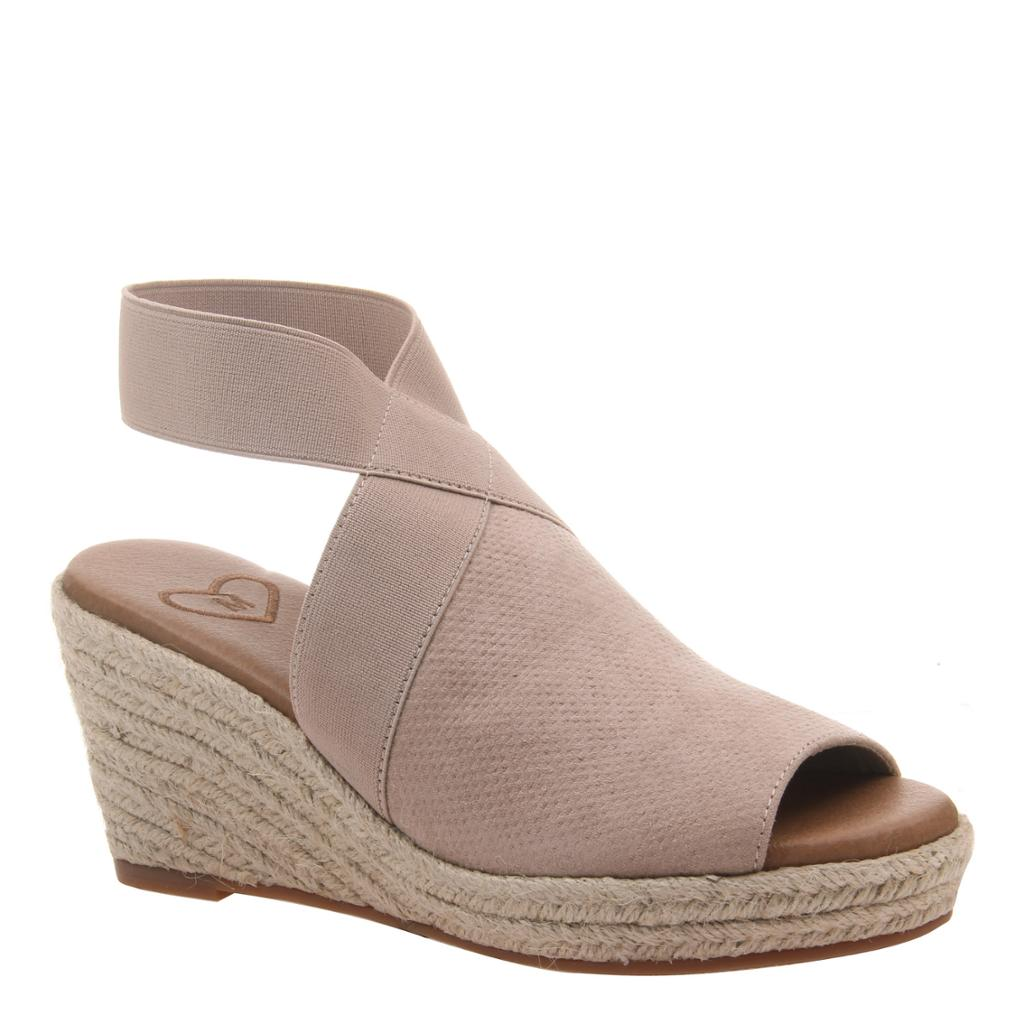 MADELINE - SUNNY DAY in MEDIUM TAUPE Wedge Sandals-East Coast She, South Carolina