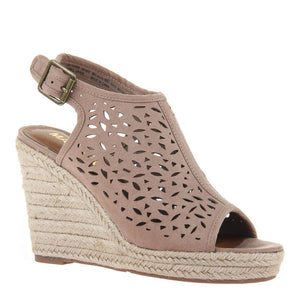 MADELINE GIRL - VERVE in WOODSMOKE Wedge Sandals-East Coast She, South Carolina