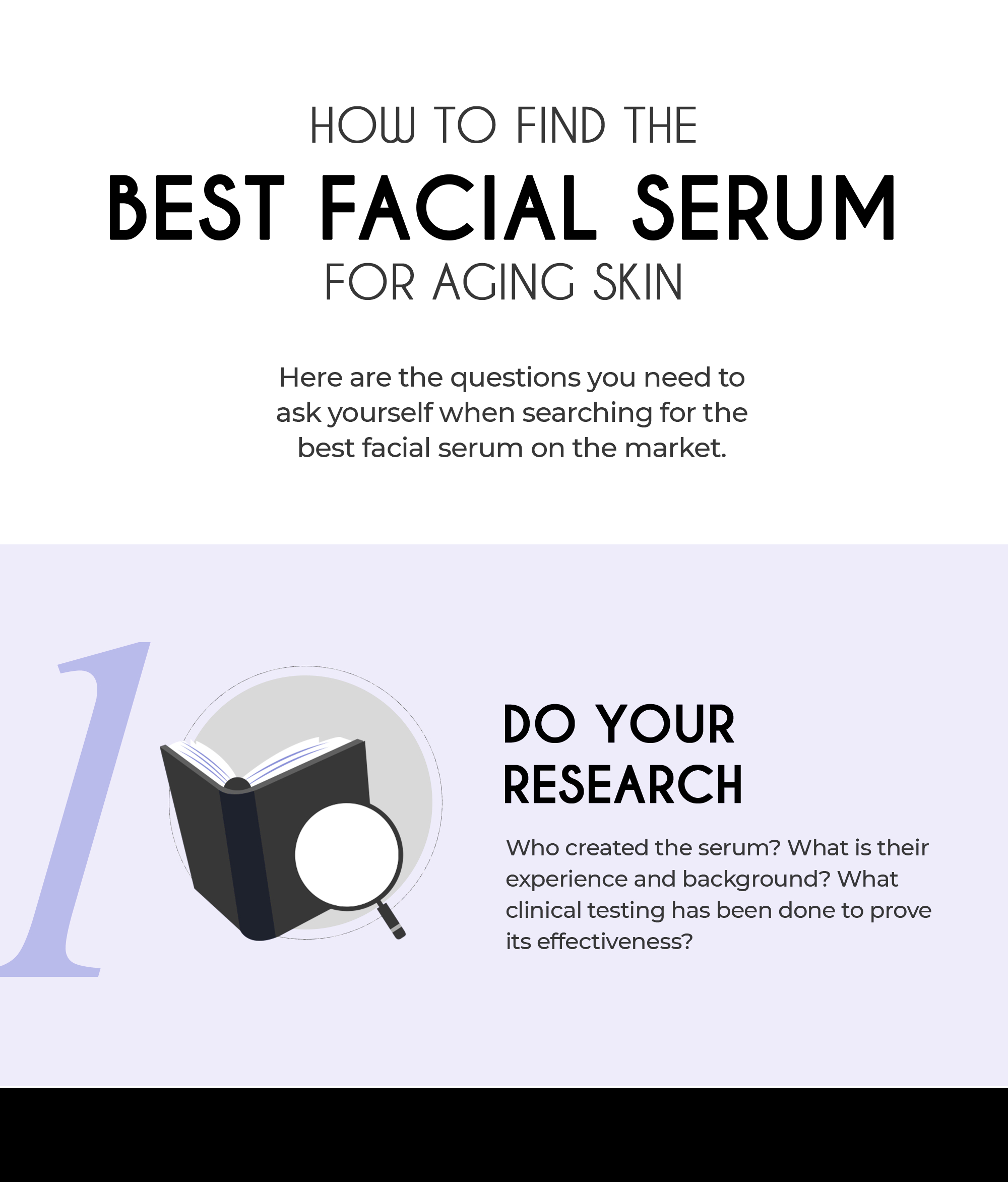 How to find the best facial serum for aging skin