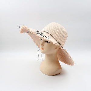 Women Letter Straw Hat