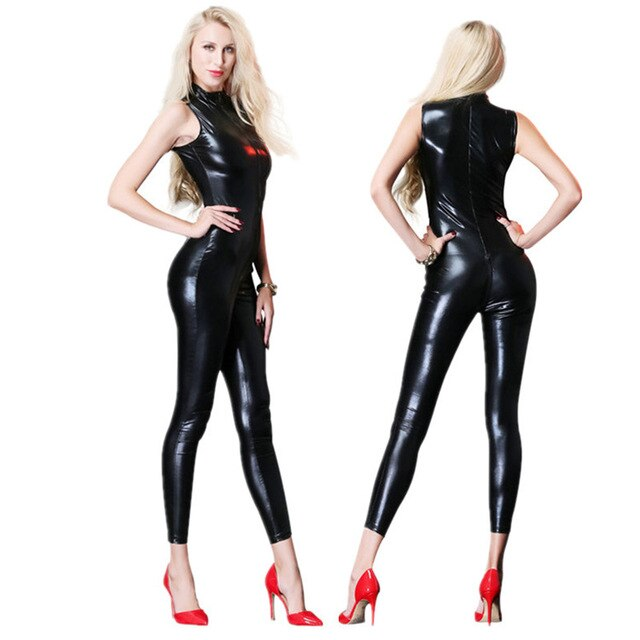 Leather Latex Catsuit Costume