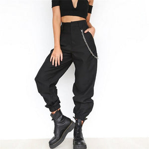 High Waist Cargo Pants Trousers - shop-bylu