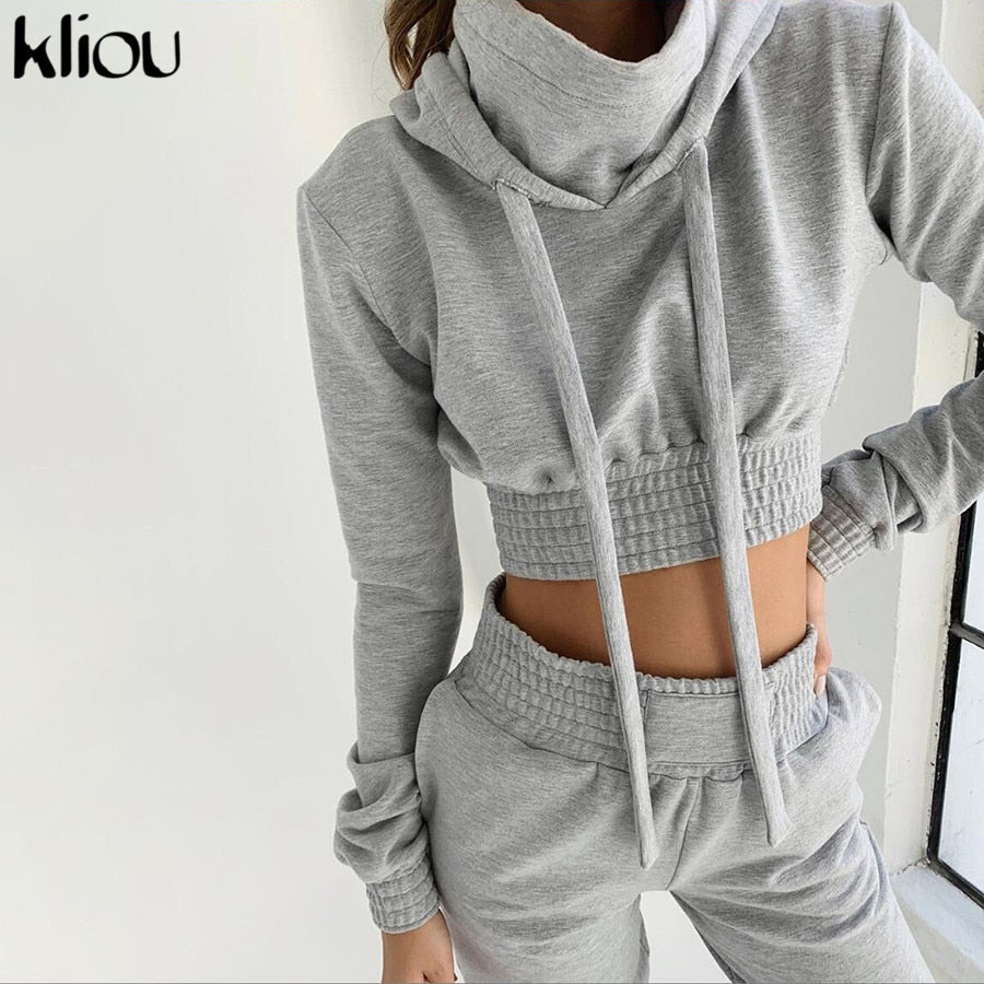 women casual hoodies crop top - shop-bylu