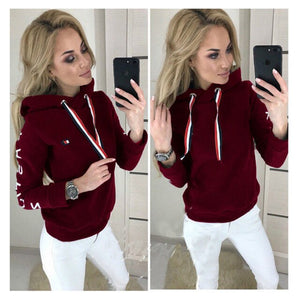 Women Ladies Fashion Hooded Sweatshirt