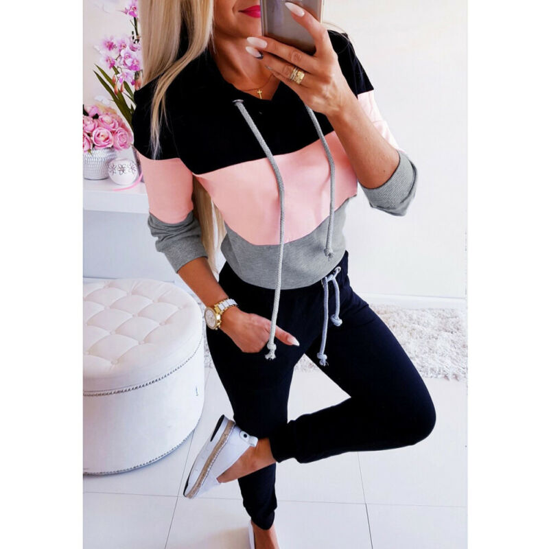 Women Early Fall Patchwork Pullover Hoodies - shop-bylu