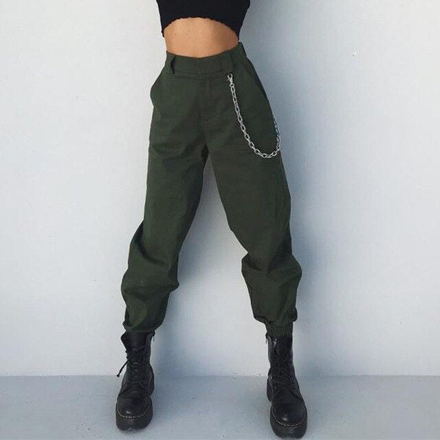 Hot Women High Waist Loose Hip Pop Pants