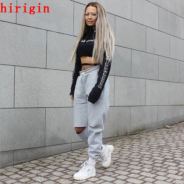 fashion autumn women high waist loose pants