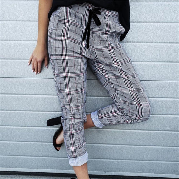 Fashion Lady Elastic Waist Drawstring Pants
