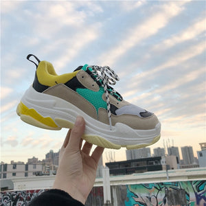 New Fashion Women Casual Shoes Lace Up Women Sneakers - shop-bylu