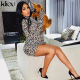 Sexy Leopard Print Cotton Long Sleeve With Gloves Bodycon - shop-bylu