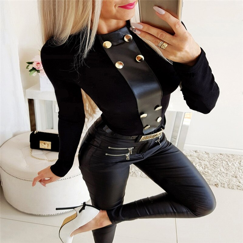 Winter Women Sexy Fashion Long Sleeve Round Neck - shop-bylu