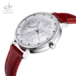 Leather Strap Elegant Wristwatches
