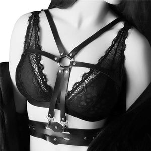 Chain Belt Bondage Bra Harness
