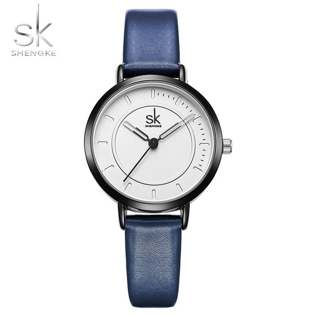 Blue Leather Strap Valentine Gift