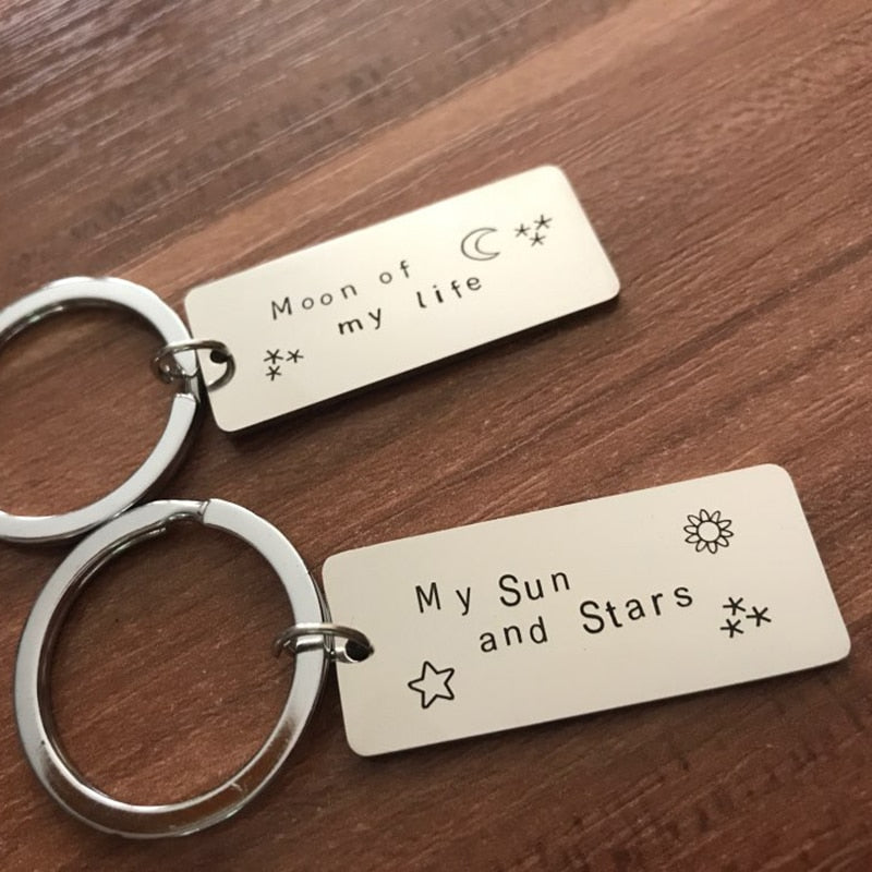 MY SUN AND STARS & MOON OF MY LIFE Stainless Steel Key-chain - shop-bylu