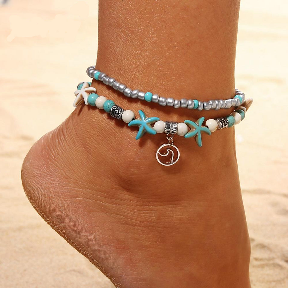 Bohemian Wave Turtle Anklets Bracelet For Women