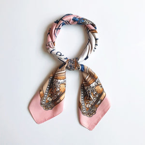Women Silk Square Scarf Print Pattern Bandanna Head Scarf