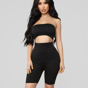 Strapless Backless Bodycon Shorts