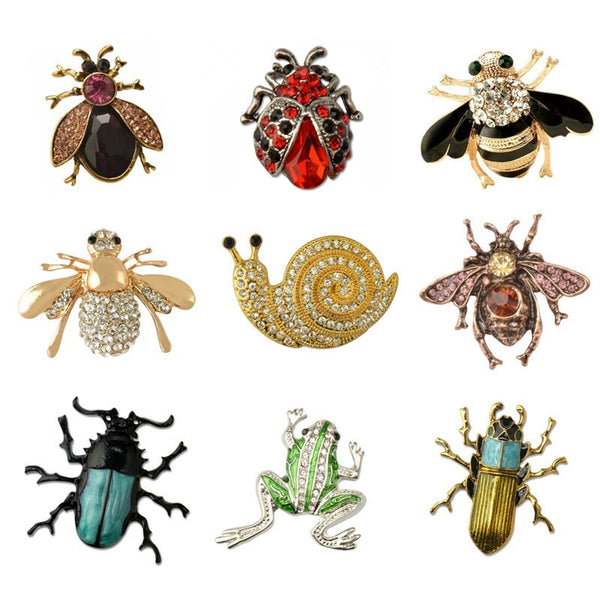 Insect Bee Frog Brooches Pin Female Hijab Pin