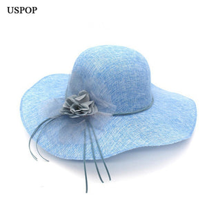 Flower Wide Brim Hats