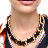 Metal chain choker Maxi Statement Necklace