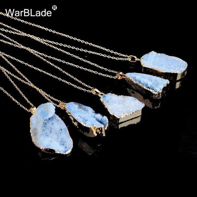 Natural Stone Quartz Pendant Necklace