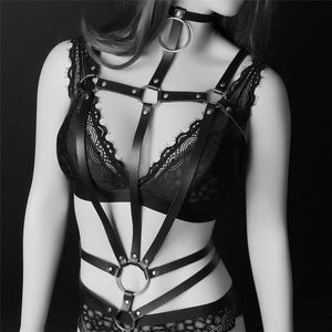 Black Goth Dance Party Bra