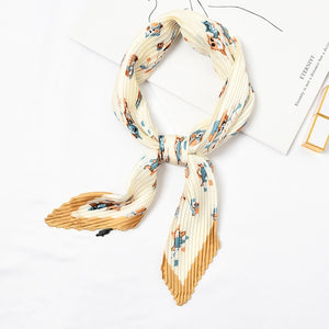 Silk Cartoon Neck Scarf for Women