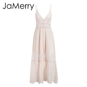 Ssummer Maxi Strap Cotton Dress