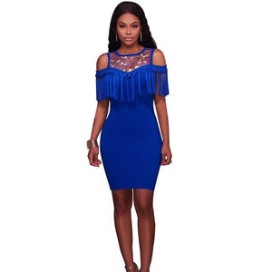 Fringe Dress Bodycon Dress - shop-bylu