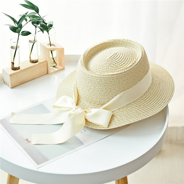 Sweet Bow Knot Beach Hat