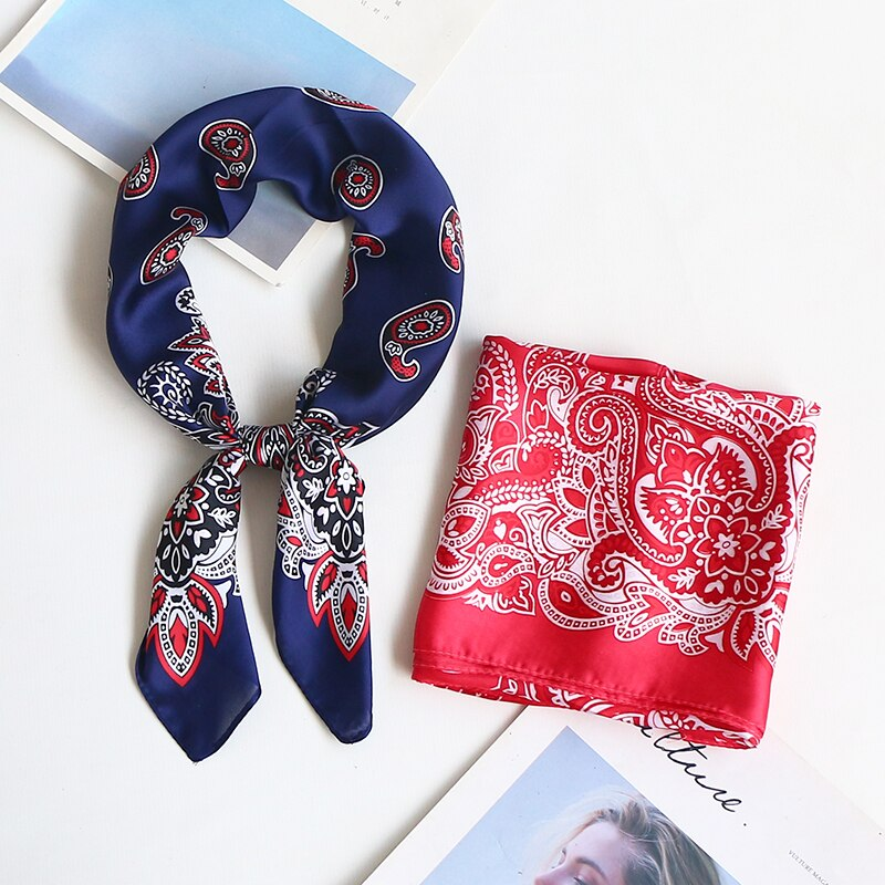 Paisley Bandanna Silk Stylish Square Scarf