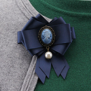 Queen Cameo Bow tie Brooches for Women - shop-bylu