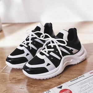Sneakers Women Summer Vulcanize Female Fashion Sneakers Lace  Soft Basket Femme Dad Platform Breathable Mesh Sneakers for Women