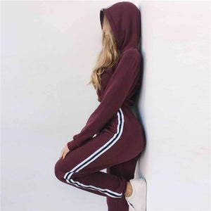 2019 Tracksuit 2pcs Women Set Hoodies Crop Top - shop-bylu