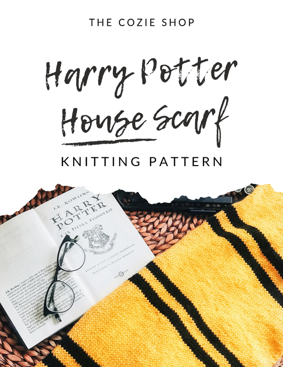 Harry Potter House Scarf Knitting Pattern