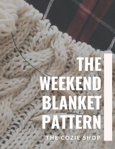 The Weekend Blanket Knitting Pattern THE COZIE SHOP
