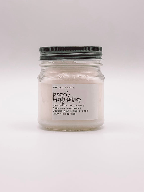 Peach Magnolia Candle THE COZIE SHOP