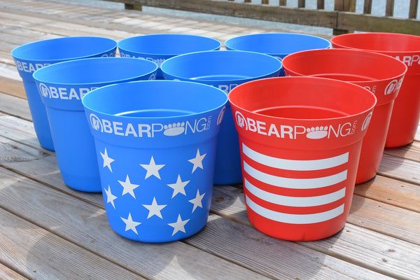 STARS AND STRIPES DELUXE BEARPONG KIT