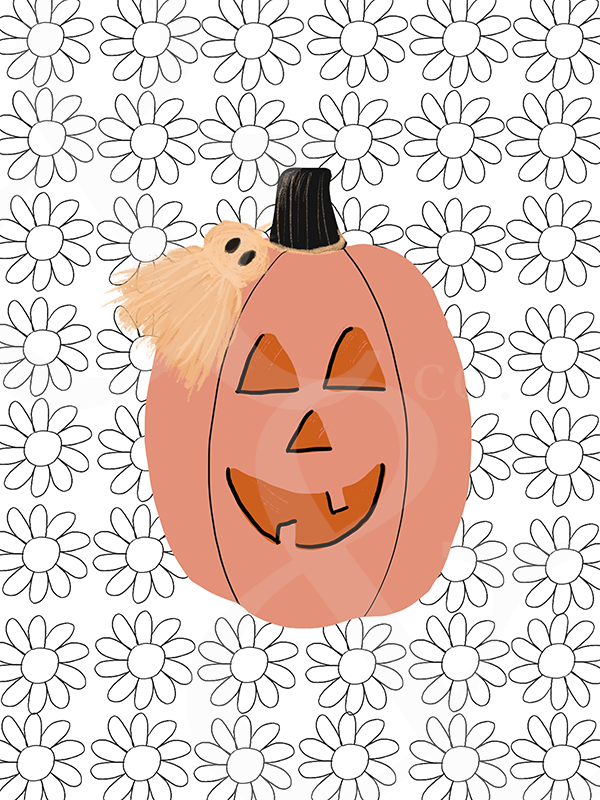 Pumpkin Ghost Tassel