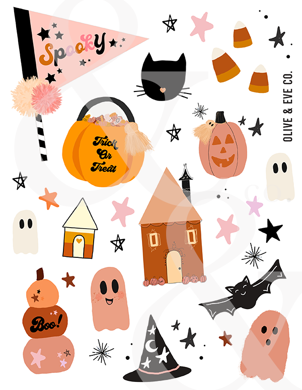 Halloween Sticker + Tattoo Collection ♡
