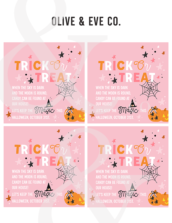 Trick Or Treat Gift Tags // Collaboration with A MagicalMess ♡