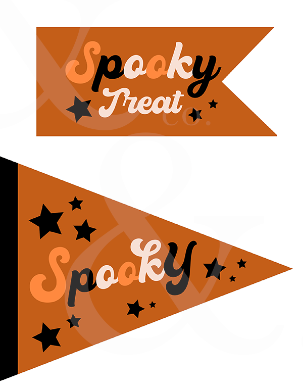 S P O O K Y Flags + Banners
